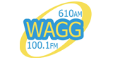WAGG 610 AM and 100.1 FM